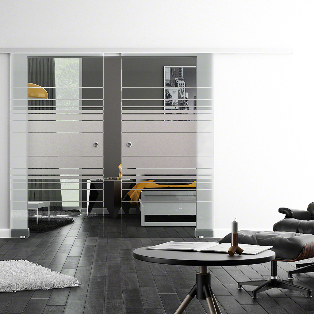 glasschiebet ren levidor sc 2 flg mit softclose. Black Bedroom Furniture Sets. Home Design Ideas
