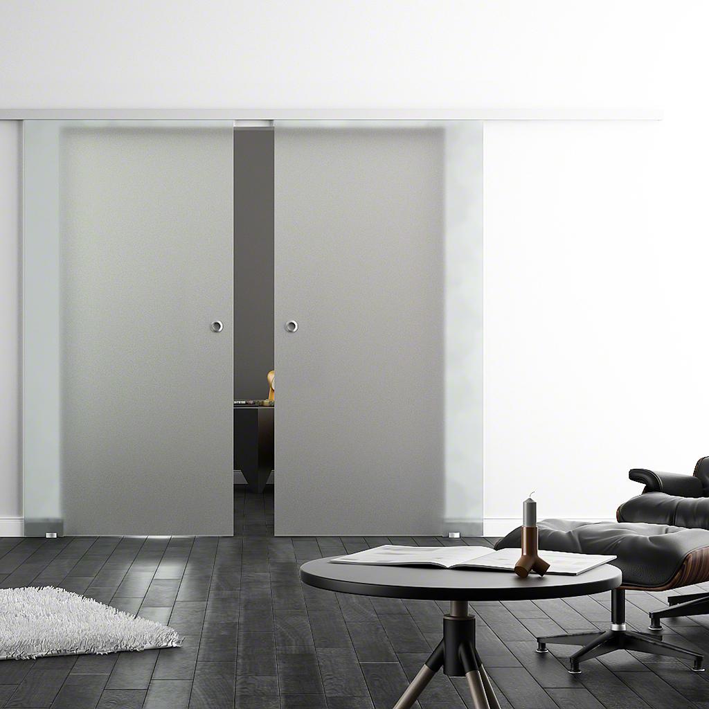 glasschiebet ren levidor sc 2 flg mit softclose softstop standard sonderma e. Black Bedroom Furniture Sets. Home Design Ideas