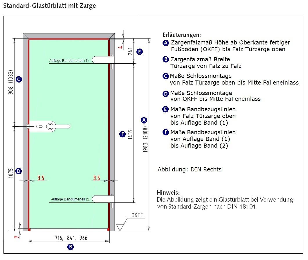 Super Glastür, Studio/Studio-Beschlag, 4-Streifen Sandstrahlung KG82